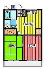 ブルックハイム[1階]の間取り