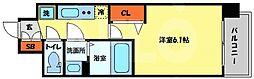 プレサンス南堀江 9階1Kの間取り