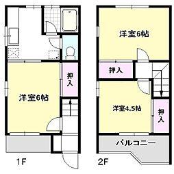 [タウンハウス] 千葉県流山市こうのす台 の賃貸【千葉県 / 流山市】の間取り