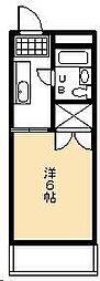 鶴田コーポ[405号室]の間取り