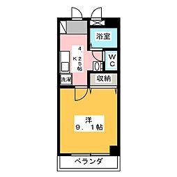 タイショウ7ビル[7階]の間取り