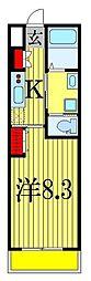ディアコート織戸[2階]の間取り