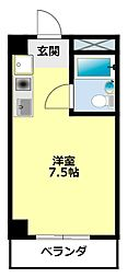 愛知県豊田市柿本町3丁目の賃貸マンションの間取り