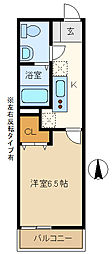 埼玉県越谷市大字袋山の賃貸アパートの間取り