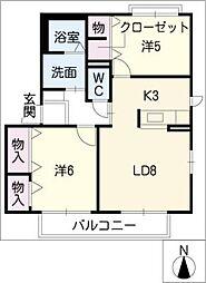Shizuka A棟[2階]の間取り