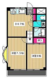 ピアーチェ・ウチムラ11[102号室]の間取り
