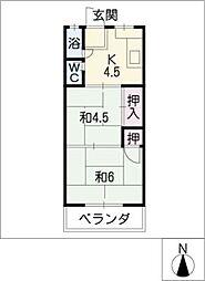 鹿野マンション[2階]の間取り