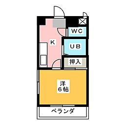 プリミエール八田[3階]の間取り
