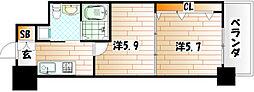 No.65 クロッシングタワー[14階]の間取り