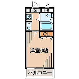 神奈川県横浜市神奈川区白幡町の賃貸マンションの間取り