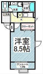 チトセキューブ(都市ガス・長野駅近く)[4階]の間取り
