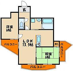 パレ・ロワイヤル壱番館[5階]の間取り