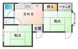 コーポ山岡[4階]の間取り