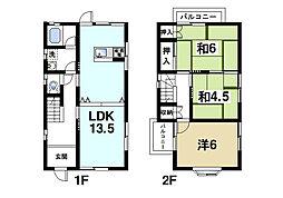 [一戸建] 奈良県奈良市南紀寺町2丁目 の賃貸【/】の間取り