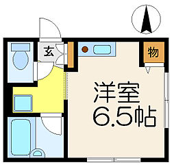 神奈川県横浜市港南区上大岡西3丁目の賃貸アパートの間取り