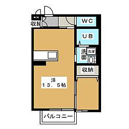ジャスミン A[1階]の間取り
