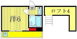MIDORI 1[2階]の間取り