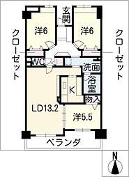 ソフィア菊坂町402号[4階]の間取り
