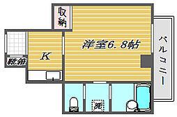 埼玉県さいたま市大宮区宮町2-の賃貸マンションの間取り