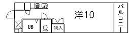 京都府京都市上京区中立売通堀川西入役人町の賃貸マンションの間取り