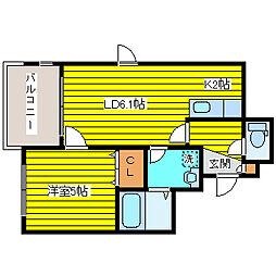 カハラコート2nd[2階]の間取り
