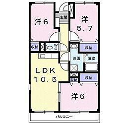 ラ・メールII[4階]の間取り
