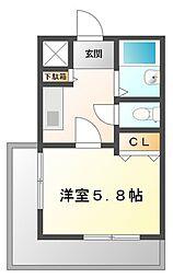 ジョイ甲子園[2階]の間取り