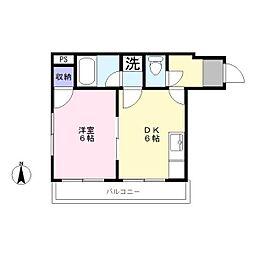 シャトー大岡山[3階]の間取り