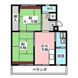 ビレッジハウス長島第二2号棟[4階]の間取り