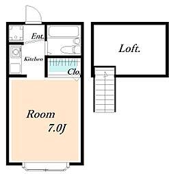 ローズアパートQ41番館[105号室]の間取り