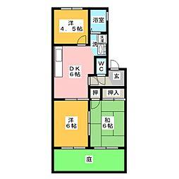 Lime House C棟[1階]の間取り