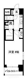 JR山陰本線 梅小路京都西駅 徒歩7分の賃貸マンション 5階1Kの間取り