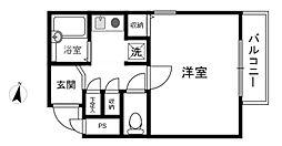 リバーサイドアベニュー1[2階]の間取り