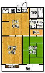 スペースカトレア[2-D号室号室]の間取り