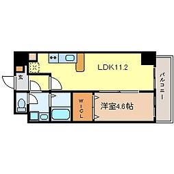 フォレシティ新栄[3階]の間取り
