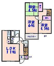 [テラスハウス] 千葉県市川市菅野2丁目 の賃貸【/】の間取り