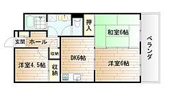 FKコーポ[4階]の間取り