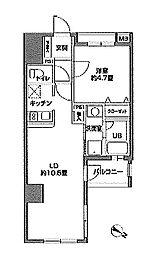 スパシエルクス横浜[5階]の間取り