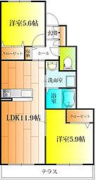 シャーメゾン南恵我之荘6丁目計画[1階]の間取り