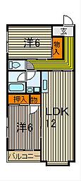 横瀬マンション[301号室]の間取り