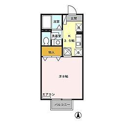 グランドール桜[1階]の間取り
