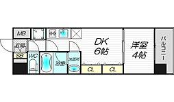S-RESIDENCE淀屋橋[9階]の間取り