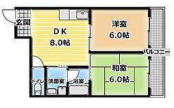 山本マンション[1階]の間取り