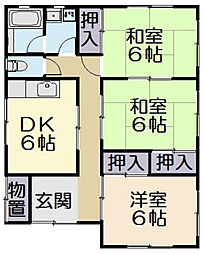 [一戸建] 三重県松阪市駅部田町 の賃貸【三重県 / 松阪市】の間取り
