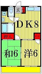 東京都足立区西綾瀬2丁目の賃貸マンションの間取り