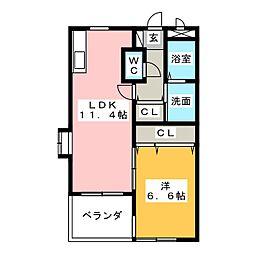 イトウビル七番館[2階]の間取り