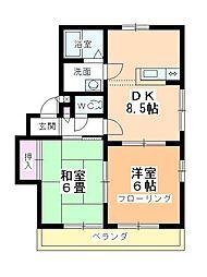 アパートメント294番館[A-201号室]の間取り