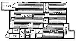 メゾンクレール[402号室]の間取り