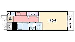 アンボワ−ズ武庫川レディース[313号室]の間取り