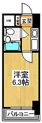 カスタリア船橋[302号室]の間取り